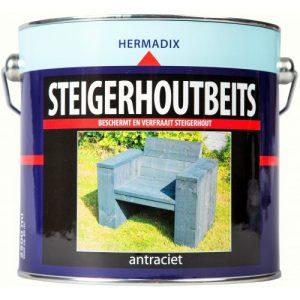 Hermadix Steigerhoutbeits Antraciet 750ml