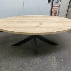 Eiken Ovaal tafelblad 220 x 110