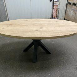 Eiken Ovaal tafelblad 240 x 110