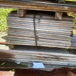 Partij hardhouten vlonderplanken/beschoeiingsplanken 45 x 145 mm